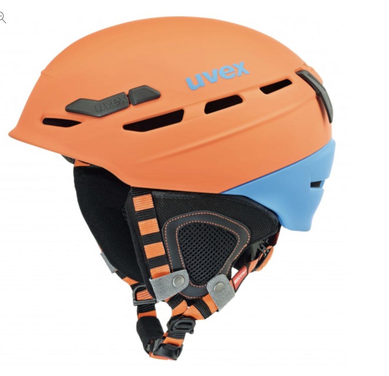 casco UVEX modello p8000 tour arancio